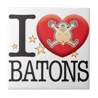 Batons Love Man Small Square Tile