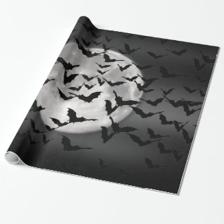 Bats and a Full Moon Wrapping Paper