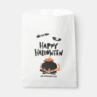 Bats and Cauldron Happy Halloween Favour Bags