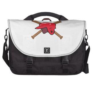 Bats and Helmet Laptop Messenger Bag