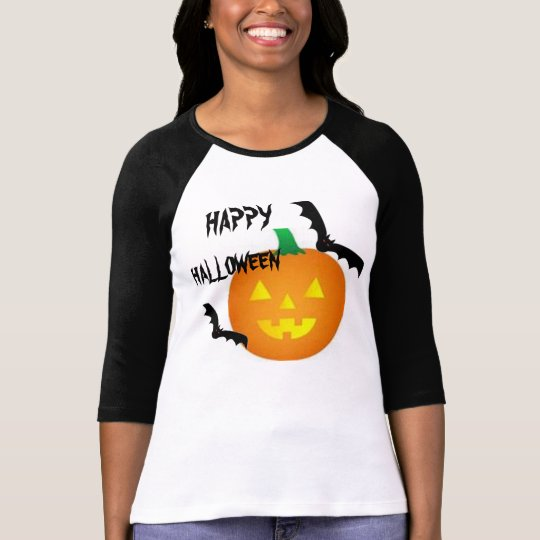 BATS AND PUMPKIN HALLOWEEN TEE SHIRT