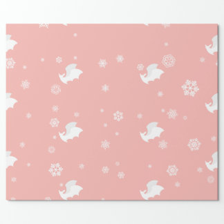 Bats and Snowflakes Wrapping Paper