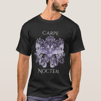 Bats and Swirls Carpe Noctem Gothic T-Shirt