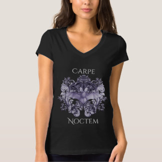 Bats and Swirls Carpe Noctem Gothic Women's Top