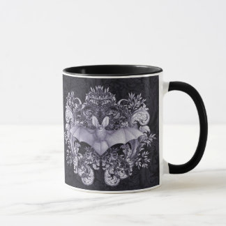 Bats and Swirls Gothic Mug