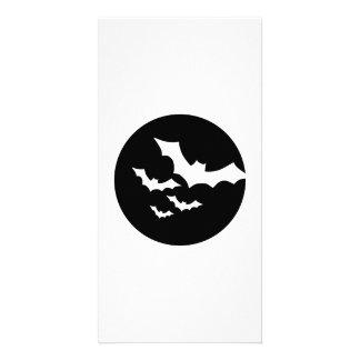 Bats black moon photo greeting card