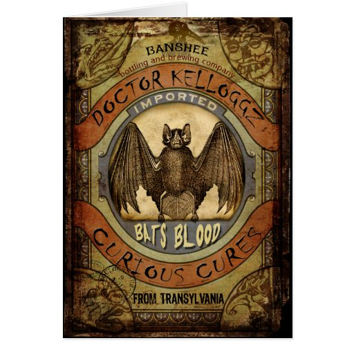 Bats Blood Greeting Cards