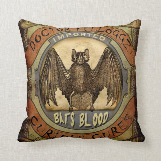 Bats Blood Throw Cushions