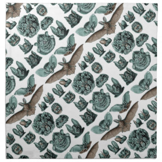 Bats by Ernst Haeckel Cloth Napkin
