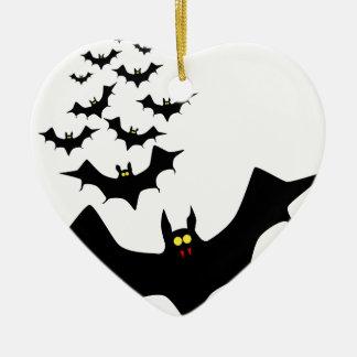 Bats Ceramic Heart Decoration