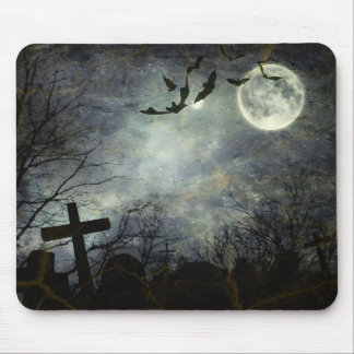 Bats flying in the night mouse mat