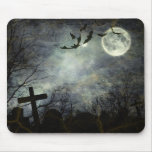 Bats flying in the night mouse pad