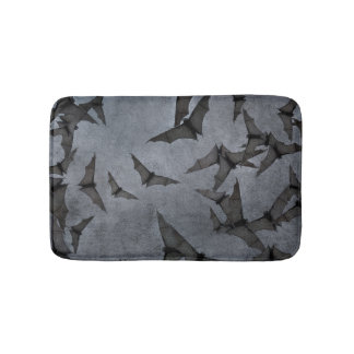 Bats In The Dark Cloudy Sky Bath Mats