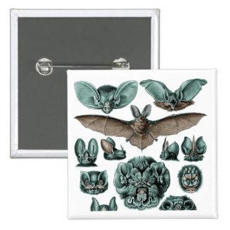 Bats on White Background 15 Cm Square Badge