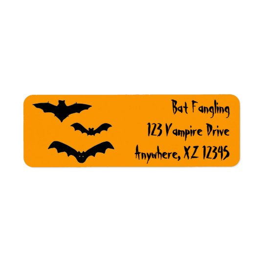 Bats Return Address Label