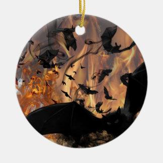 Bats! Round Ceramic Decoration