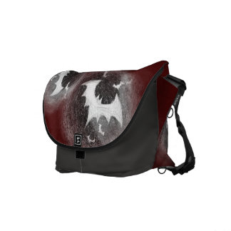Bats Scratch Maroon Messenger Bag