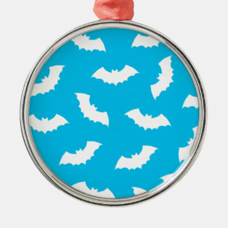 Bats Silver-Colored Round Decoration