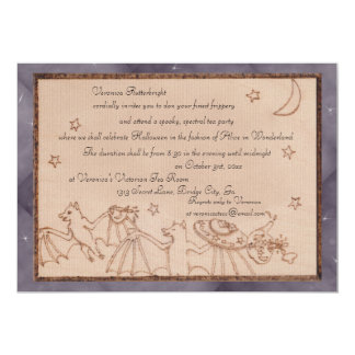 Bats Tea Party Halloween Costume Party Card