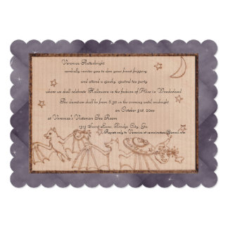 Bats Tea Party Halloween Costume Party 5x7 Paper Invitation Card