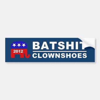 Batshit Clownshoes Republican 2012 Ticket Sticker Bumper Sticker