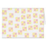 Battenburg Cake Pattern. Pink and Yellow. Greeting Card