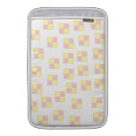 Battenburg Cake Pattern. Pink and Yellow. MacBook Air Sleeves