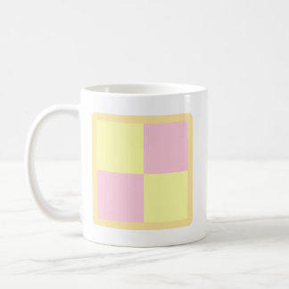 Battenburg Cake. Pink and Yellow. Coffee Mug