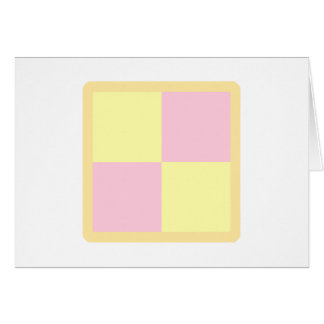 Battenburg Cake. Pink and Yellow. Greeting Card