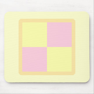 Battenburg Cake. Pink and Yellow. Mouse Pads