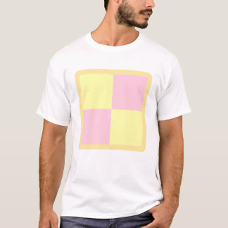 Battenburg Cake. Pink and Yellow. T-Shirt