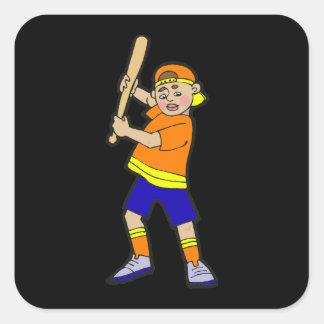 batter boy square sticker