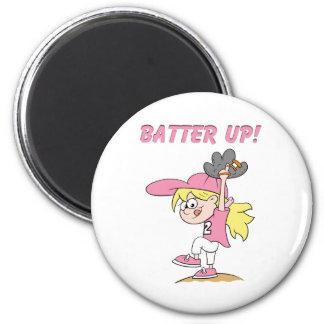 Batter Up 6 Cm Round Magnet