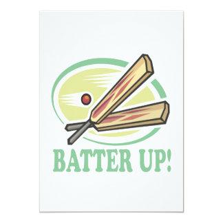 Batter Up 5x7 Paper Invitation Card