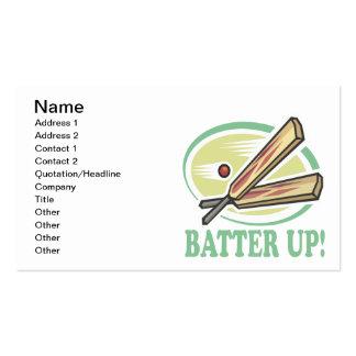 Batter Up Pack Of Standard Business Cards