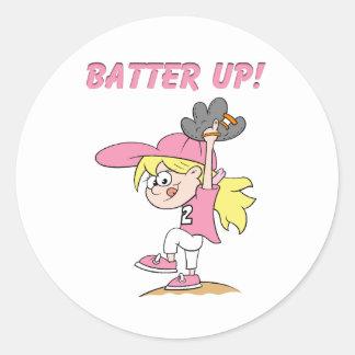 Batter Up Round Sticker