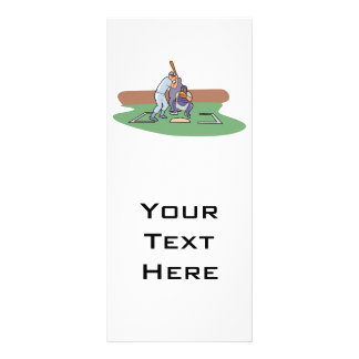 batter up waiting for pitch baseball design personalised rack card