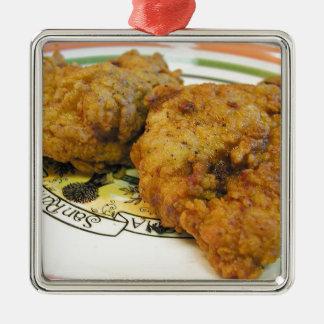 Battered Chicken Christmas Ornament