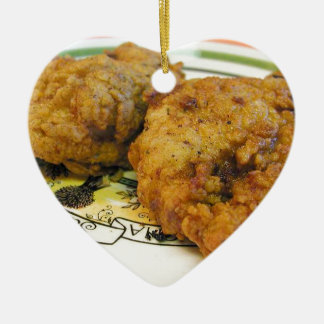 Battered Chicken Christmas Ornament