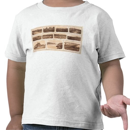 Batteries, redoubts, building, canal, bridge t-shirt