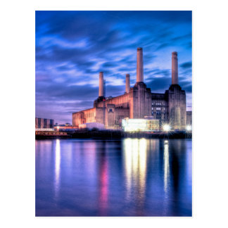Battersea Power Station at night Postcard