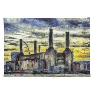 Battersea Power Station London Art Placemat