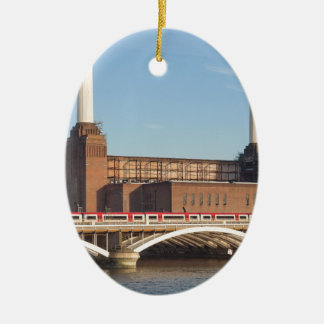 Battersea Power Station London Ceramic Oval Decoration