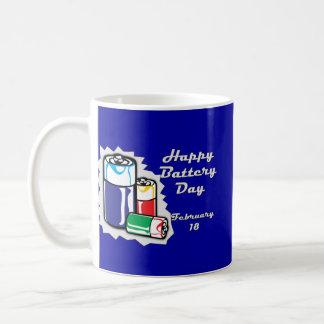 Battery Day February 18 Basic White Mug