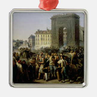 Battle at the Porte Saint-Denis, 28th July 1830 Christmas Ornament