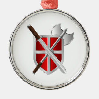 Battle Axe Sword and Shield Christmas Ornament