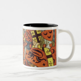 Battle between Crusaders and Moslems Two-Tone Coffee Mug