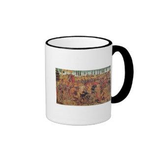 Battle between Darius  and Alexander the Great Ringer Coffee Mug
