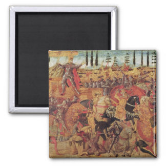 Battle between Darius  and Alexander the Great Square Magnet