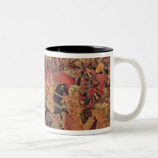 Battle between Darius  and Alexander the Great Two-Tone Coffee Mug